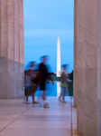 Washington monument reflecting from Jefferson