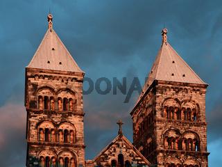 Türme des Doms in Lund - Schweden