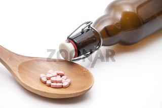 Tabletten und Alkohol