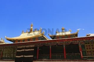 Dharmachakra und das goldene Dach  Kloster Tashilhunpo Tibet