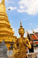 Goldene buddhistische Gedenkstätte