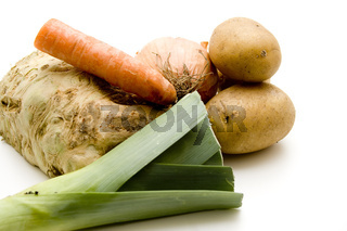 Karotte und Lauch mit Kartoffeln