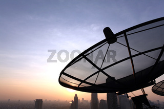 Communication Satellite Dish