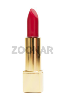 Red lipstick, isolated on white background