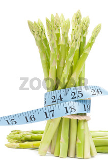 Lose weight concept, Asparagus with tape
