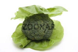 Broccoli mit Salatblatt