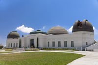 Griffith observatory with green grass field