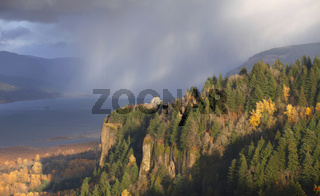 Rainfall & changing weather in the Columbia Gorge