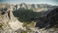 Ausblick von der Nordkette ins Karwendelgebirge