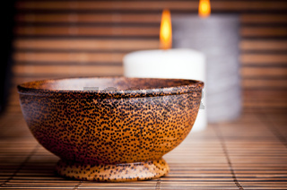 Exotic Bowl and Candles