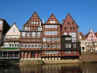 Fachwerkhäuser an der Ilmenau in Lüneburg