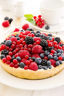 Tarte with different berries