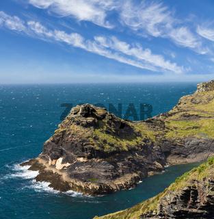 Cliff at Cornish coast near Boscastle, Cornwall, England