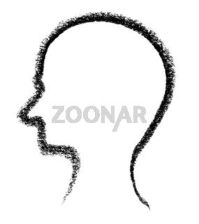 sketched head