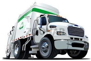 Cartoon Garbage Truck