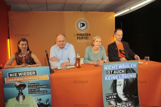 Pressekonferenz Piratenpartei Deutschland  Bundestagswahl 2013