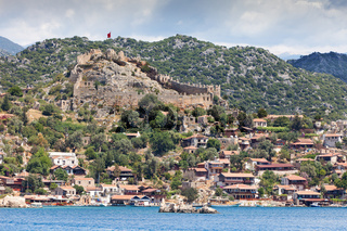 Ancient turkish castle on the hill