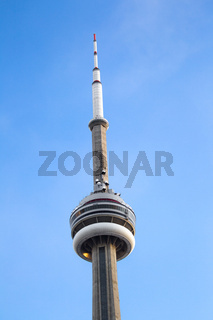 low angle shot of cn tower against sky