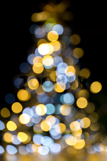 Christmas tree sparkling lights