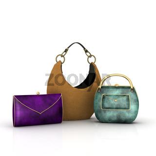 Drei Handtaschen