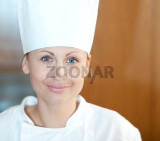 Portrait of a beautiful female chef