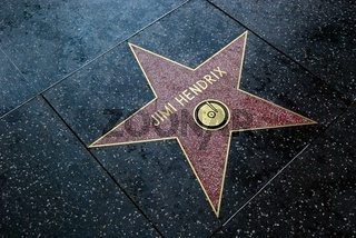 Stern für Jimi Hendrix am walk of fame hollywood
