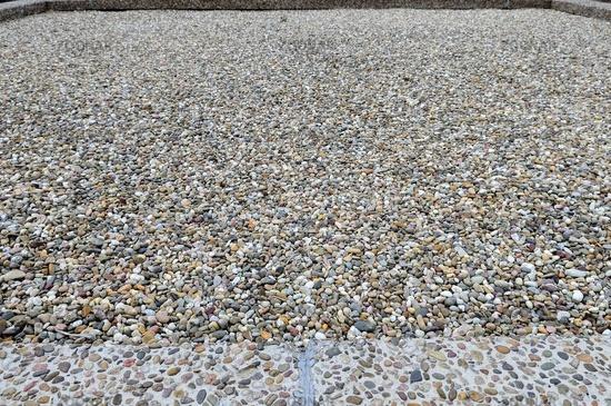 Flachdach textur  Foto Rollkies auf dem Flachdach Bild #4553416