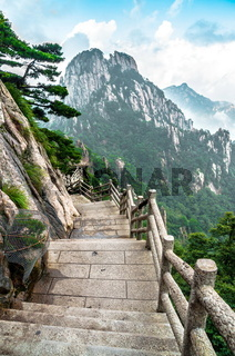 Huangshan mountain path