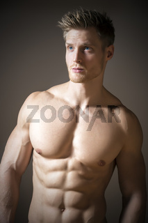 Blond athletic man