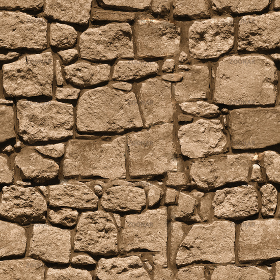 Large rough natural stone wall - seamless texture for design