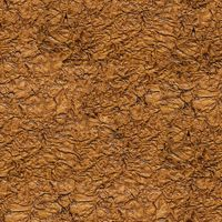 Seamless wrinkled brown paper closeup texture background.