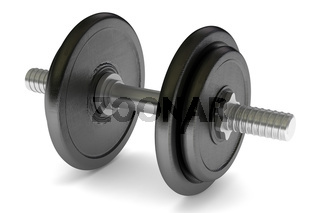 metal dumbbell isolated on white background