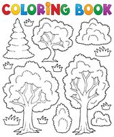 Coloring book tree theme 1 - picture illustration.