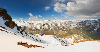 Beautiful panorama of Tien Shan Mountain range