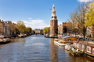 City landscape of Amsterdam, Netherlands