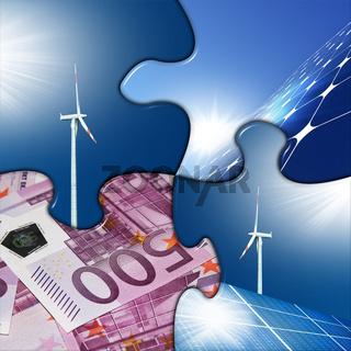 solar, generator, money, puzzle