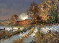 winter landschaft malerei