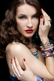 beautiful woman in jewelry