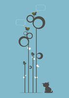 Curious Cat and Birds Singing