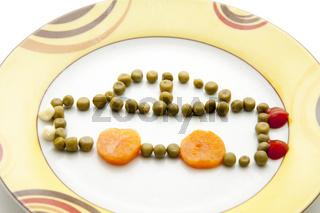 Erbsen mit Karotte