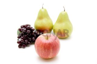 Apfel mit Birnen und Trauben
