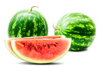 Watermelons, isolated on white background. In high resolution.