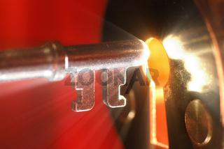 Key  keyhole with light