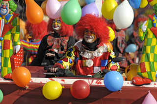 Clown im Fasching Karneval
