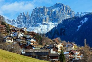 Mountain Tiers village (Italy).