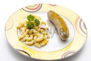 Bratwurst mit Currypulver