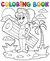 Coloring book summer activity 2 - picture illustration.
