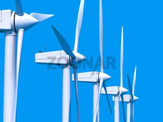 Wind farm generators