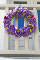 flower wreath in greece