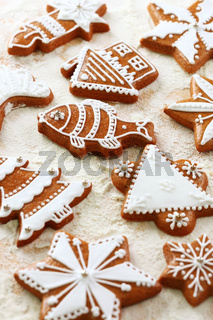 Delicious gingerbread cookies for Christmas